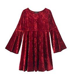 Jessica Simpson Girls' 7-16 Long Sleeve Crinkle Dress