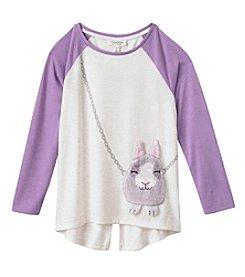 Jessica Simpson Girls' 7-16 Ella Bunny Purse Tee
