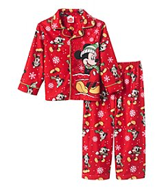 Disney® Boys' 2T-4T 2-Piece Christmas Mickey Pajama Set