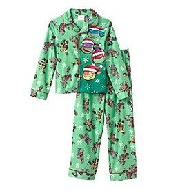 Nickelodeon® Boys' 4-10 2-Piece Holiday TMNT Pajama Set