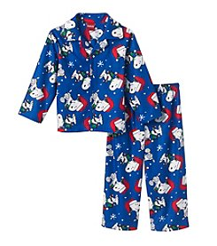 Peanuts® Boys' 2T-4T 2-Piece Ho Ho Snoopy Pajama Set