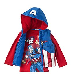 Marvel® Heroes Boys' 4-7 2-Piece Captain America® Vest Set
