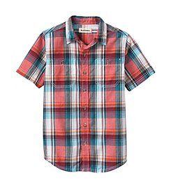 Ruff Hewn Boys' 8-20 Short Sleeve Plaid Shirt
