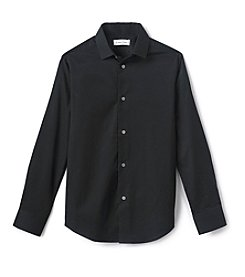 Calvin Klein Boys' 8-20 Long Sleeve Tonal Dress Shirt