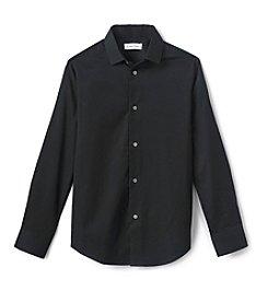 Calvin Klein Boys' 8-20 Long Sleeve Tonal Dress Shirt