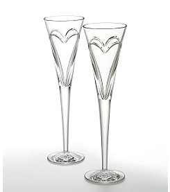 Waterford® Crystal Wishes Love & Romance Pair of Flutes