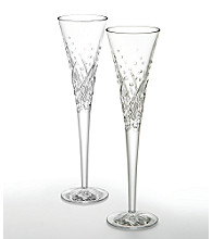 Waterford® Crystal Wishes Happy Celebration Pair of Flutes