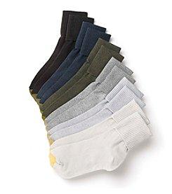 GOLD TOE® 6 Pack Turn Cuff Crew Socks