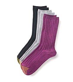 GOLD TOE® 3 Pack Crew Socks