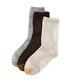 GOLD TOE® 3 Pack Crew Socks