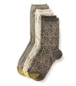 GOLD TOE® 3 Pack Peacock Boot Socks