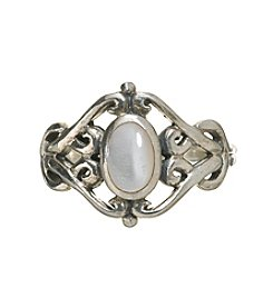 Marsala Mother Of Pearl Filigree Ring