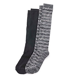 Relativity® 2-Pack Knee Socks