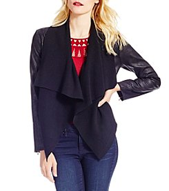 Jessica Simpson Coated Drape Jacket