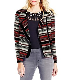 Jessica Simpson Elora Striped Moto Jacket