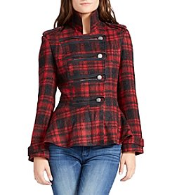 William Rast® Plaid Military Jacket
