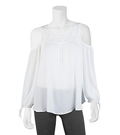 A. Byer Cold Shoulder Top