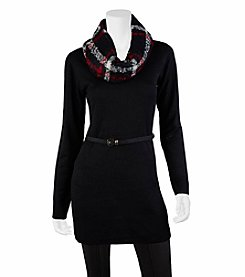 A. Byer Belted Sweater Tunic