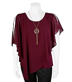 A. Byer Plus Size Sheer Layer Top