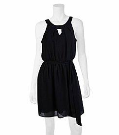 A. Byer Keyhole Belted Dress