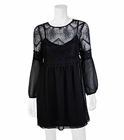 A. Byer Lace Peasant Dress