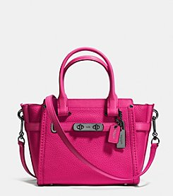 COACH SWAGGER CARRYALL 21 IN PEBBLE LEATHER