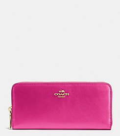 COACH SLIM ACCORDIAN ZIP WALLET