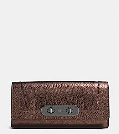 COACH SWAGGER SWIM ENVELOPE WALLET IN PEBBLE LEATHER