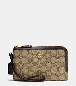 COACH SMALL DOUBLE CORNER ZIP WALLET