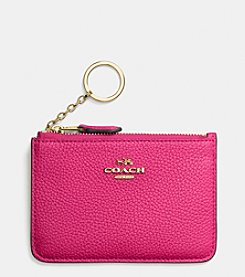 COACH KEY POUCH IN PEBBLE LEATHER