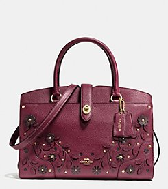 COACH WILLOW FLORAL MERCER SATCHEL
