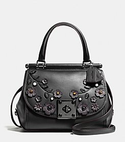 COACH WILLOW FLORAL DRIFTER TOP HANDLE SATCHEL