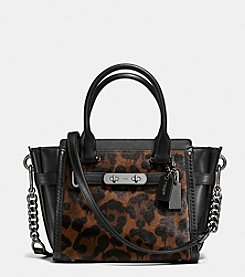 COACH SWAGGER 21 IN PRINTED HAIRCALF