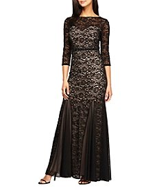 Alex Evenings® Long Fit And Flare Lace Dress