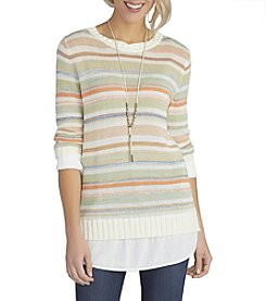 Democracy Variegated Stripe Sweater