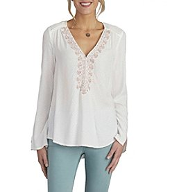 Democracy Embellished V-Neck Top