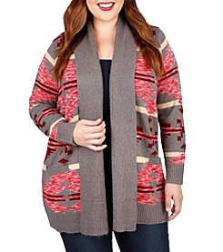 Lucky Brand® Plus Size Intarsia Sweater Coat