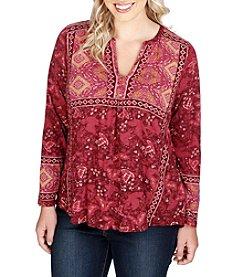 Lucky Brand® Plus Size Print Top