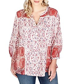 Lucky Brand® Plus Size Floral Print Top