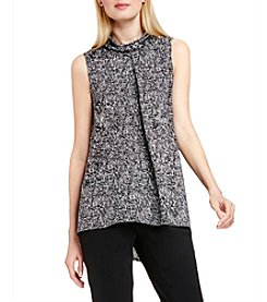 Vince Camuto® Textured Mock Neck Top
