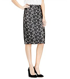 Vince Camuto® Floral Lace Pencil Skirt