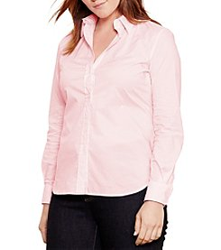 Lauren Ralph Lauren® Plus Size Striped Cotton Shirt