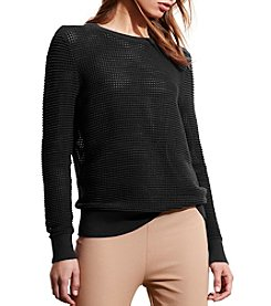 Lauren Ralph Lauren® Open-Knit Shoulder-Zip Sweater