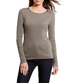 Lauren Ralph Lauren Zip-Shoulder Cotton Top