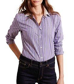 Lauren Ralph Lauren® Striped Stretch Cotton Shirt