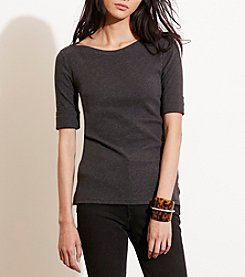 Lauren Ralph Lauren® Stretch Cotton Boatneck Tee