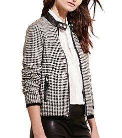 Lauren Ralph Lauren® Houndstooth Moto Jacket