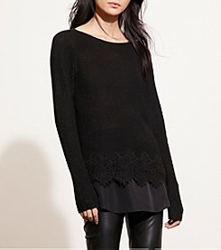Lauren Ralph Lauren® Layered Lace-Hem Sweater