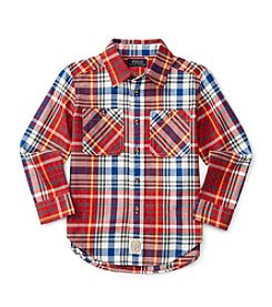 Polo Ralph Lauren® Boys' 2T-7 Plaid Workshirt