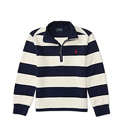 Polo Ralph Lauren® Boys' 2T-7 1/4-Zip Striped Pullover